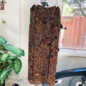 Sigrid Olsen beautiful earthy colored wrap skirt